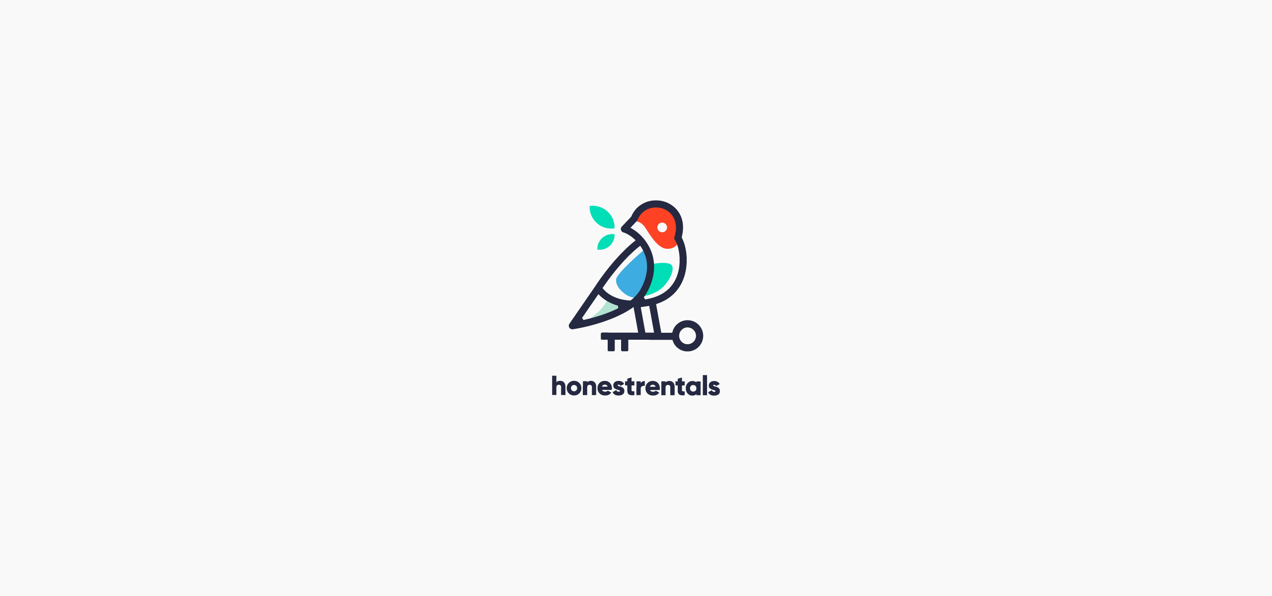 Honestrentals Real Estate Company Logo. Real Estate Agency Logotype.