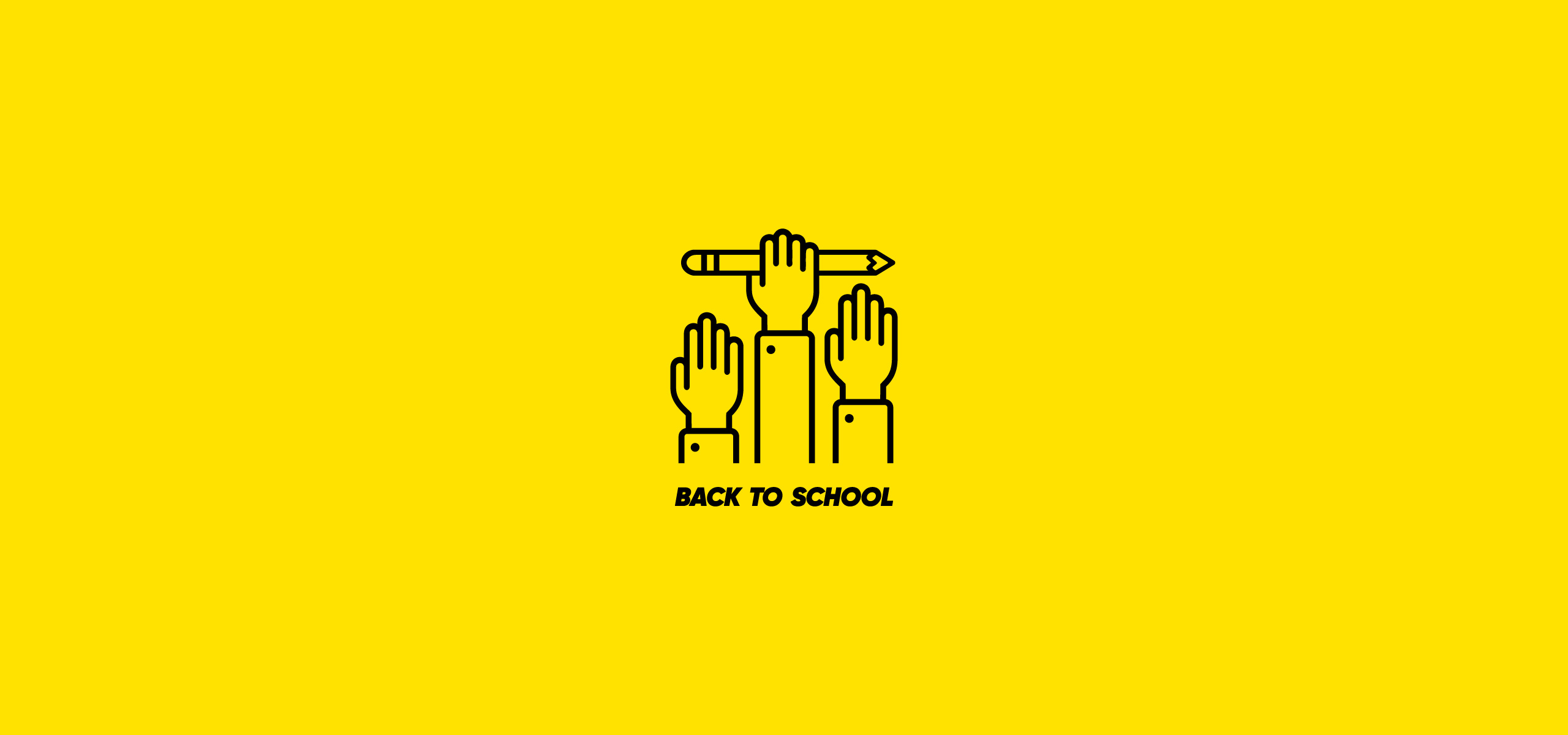Back to School Symbol. Education, Online Courses Logo