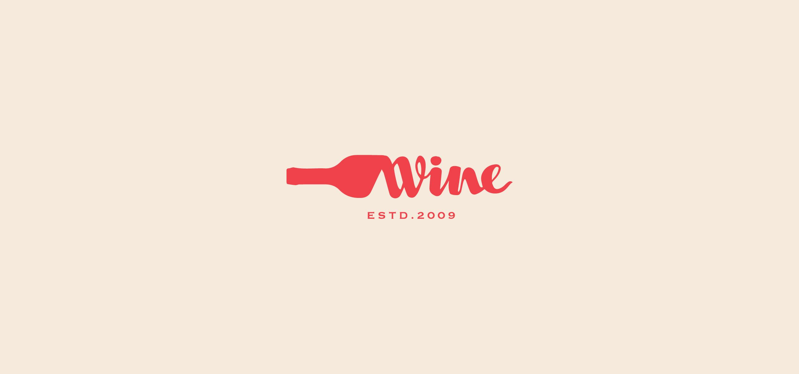 Winery Market Signage Logo. Wine Logo. Wine Symbol.