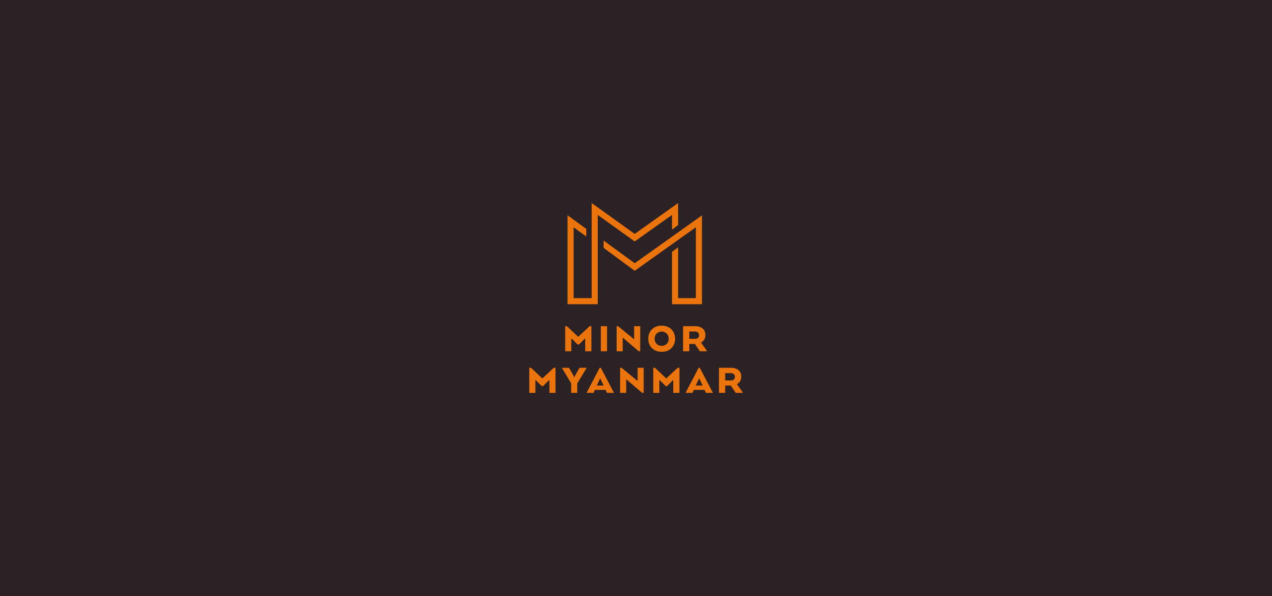Minor Myanmar Company Limited Brand Identity. Company Logo.