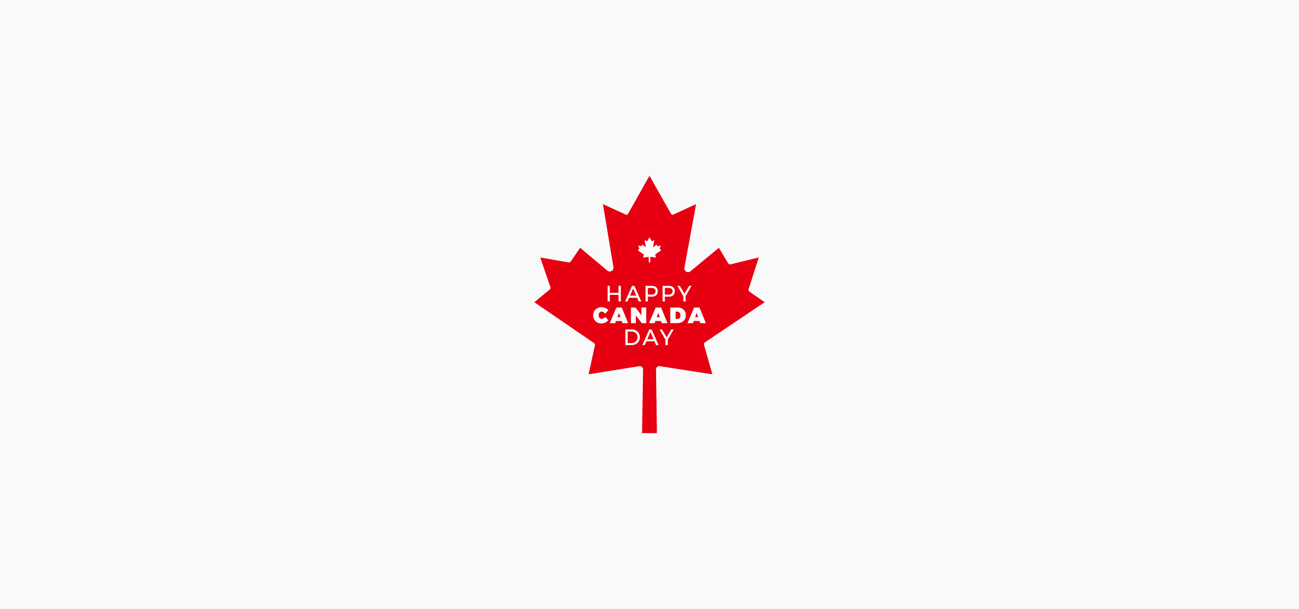 Happy Canada Day Symbol